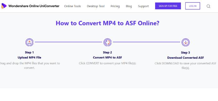 convert mp4 to asf online