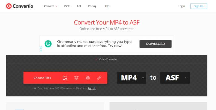 mp4 to asf online converter