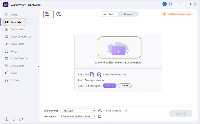 add MP4 files to convert to TS