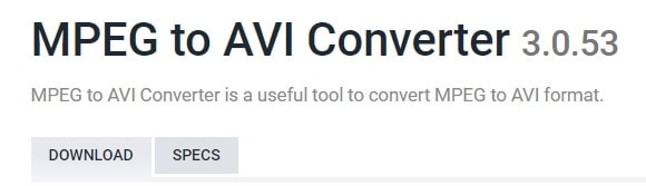 MPEG to AVI Converter