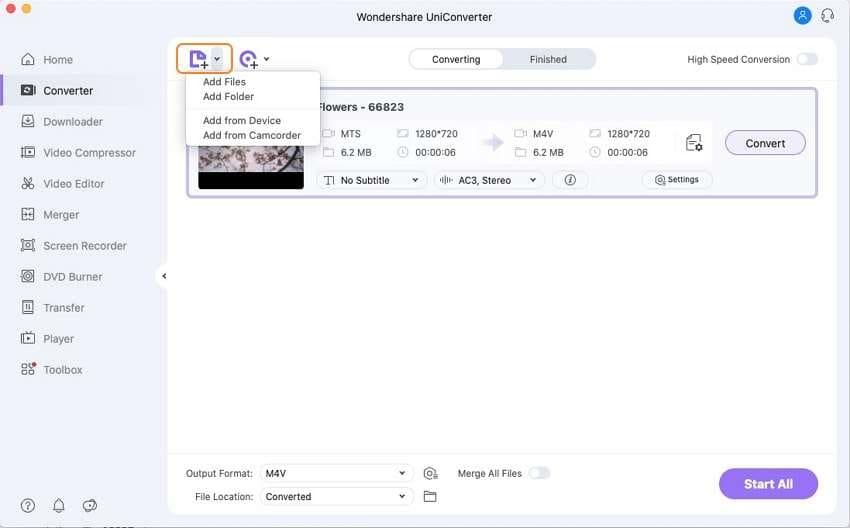 add MTS files to Mac