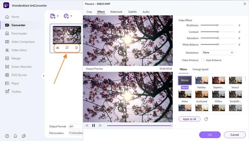 edit MXF file by Wondershare MXF to MP3 Converter
