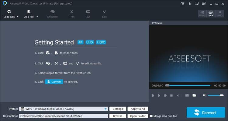 convert MXF to WMV Free - Aiseesoft Video Converter Ultimate