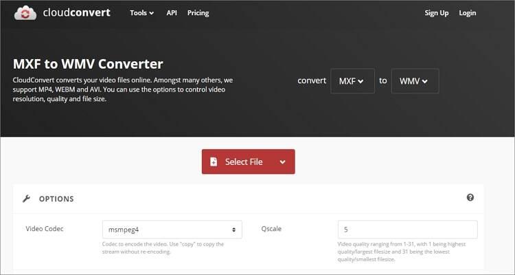 convert MXF to WMV online - CloudConvert