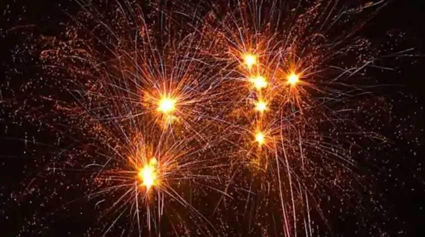 Bursting firecracker