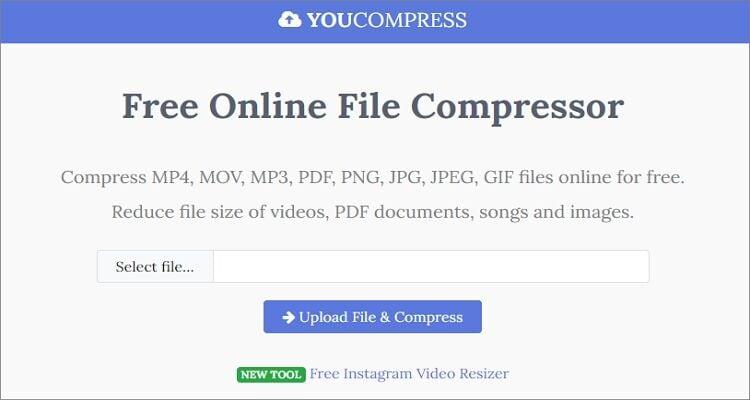 compress OGG  file online - YouCompress