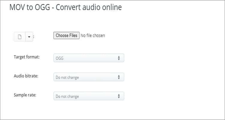 MOV to OGG Online Converter - AConvert