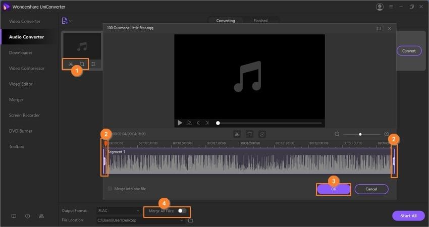 edit OGG files by Wondershare Audio Converter