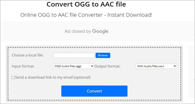OGG to AAC Online Converter - ConvertFiles