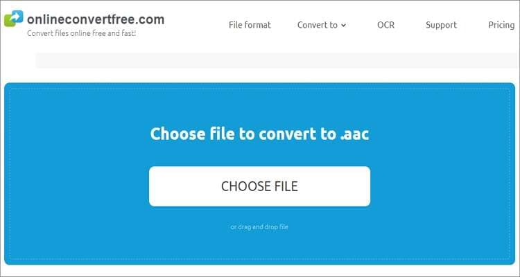 OGG to AAC Online Converter - Onlineconvertfree