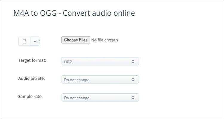 OGG  to M4A Online Converter - AConvert