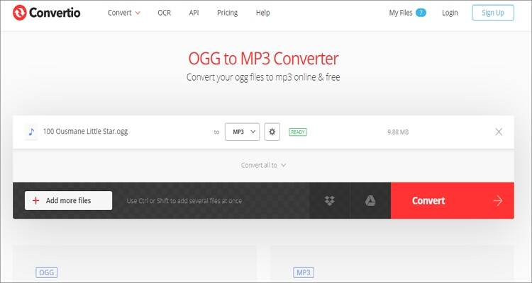 Free Online OGG to MP3 Converter - Convertio