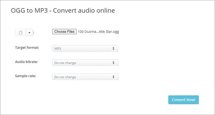 Free Online OGG to MP3 Converter - AConvert