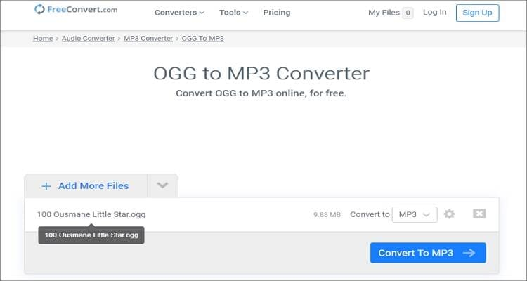 Free Online OGG to MP3 Converter - FreeConvert