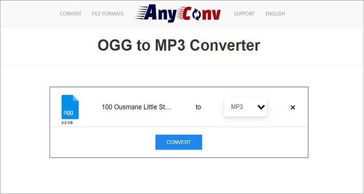 Free Online OGG to MP3 Converter - AnyConv