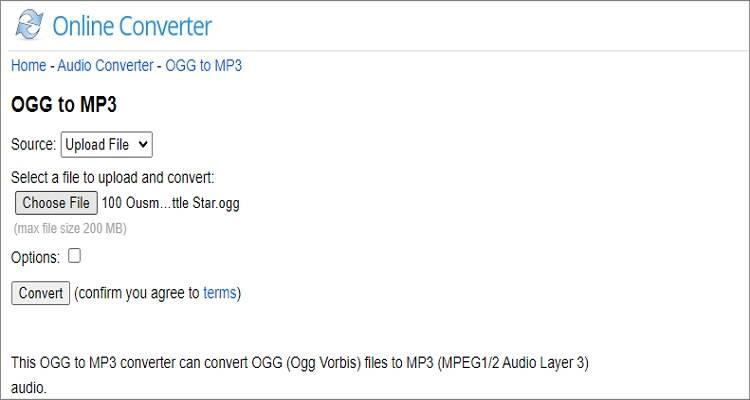 Free Online OGG to MP3 Converter - Online Converter