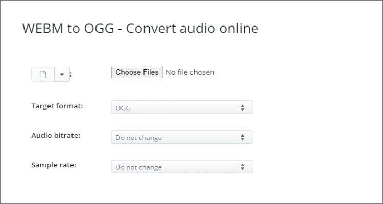 WEBM to OGG Online Converter - AConvert