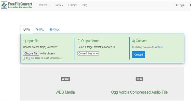 WEBM to OGG Online Converter - FreeFileConvert