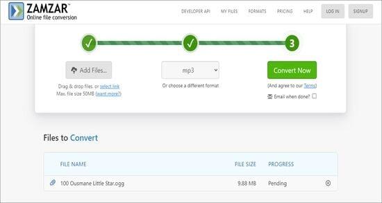 Free Online OGG to MP3 Converter - Zamzar