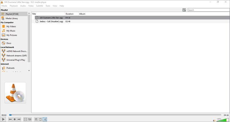 OGG Players- VLC Media Player