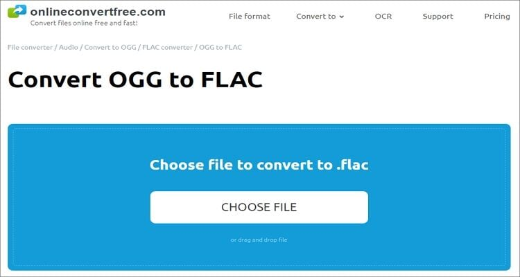 FLAC to OGG Online Converter - Onlineconvertfree