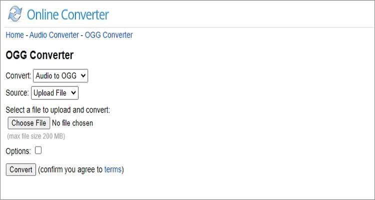 OGG Audio Online Converter - Online Converter