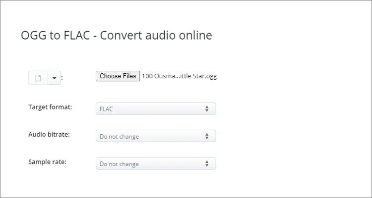 OGG to FLAC Online Converter - AConvert