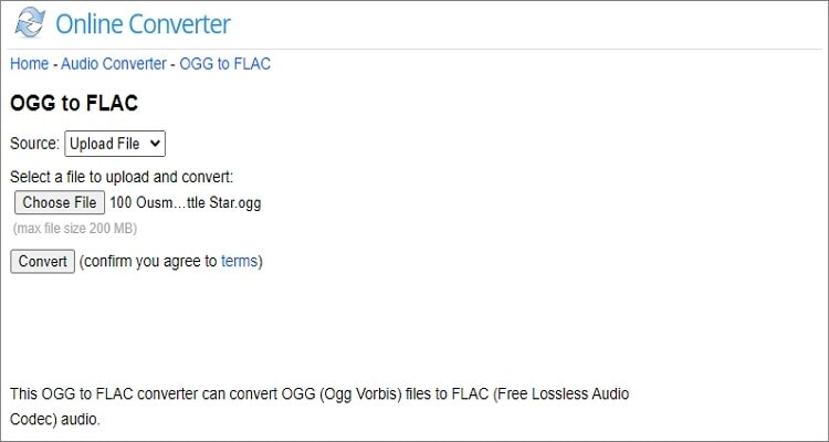 OGG to FLAC Online Converter - Online Converter