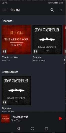 Sirin Audiobook Player