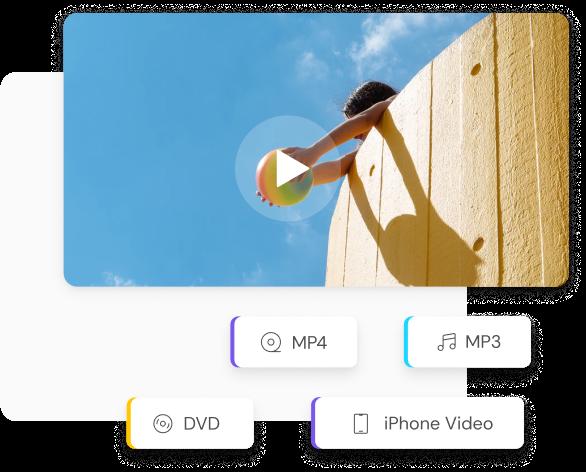 Convert Video to MP3/MP4/DVD