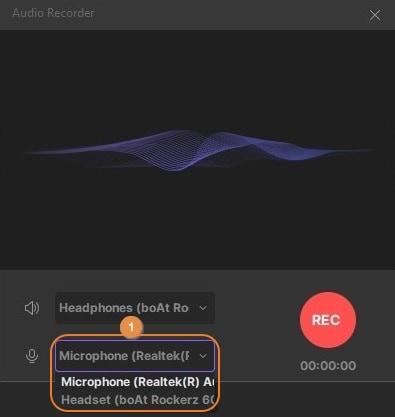 set up the audio settings