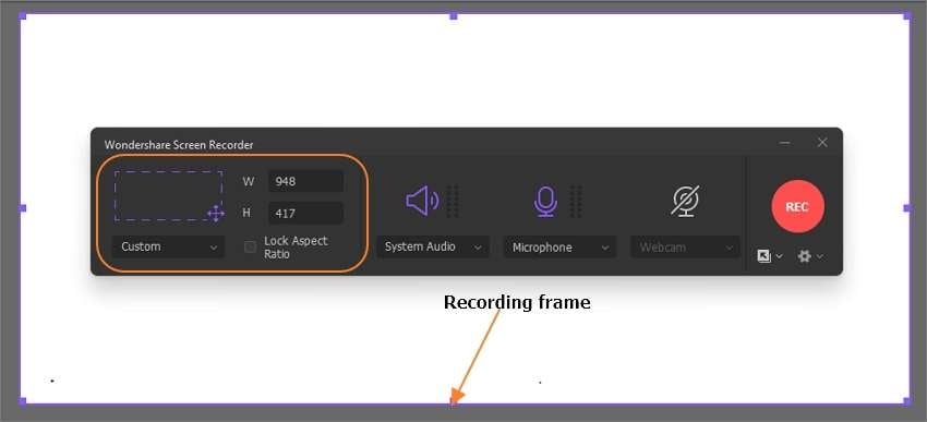 Select a screen region to record