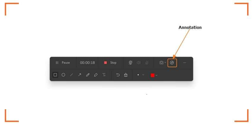 Start recording a screencast with annotations