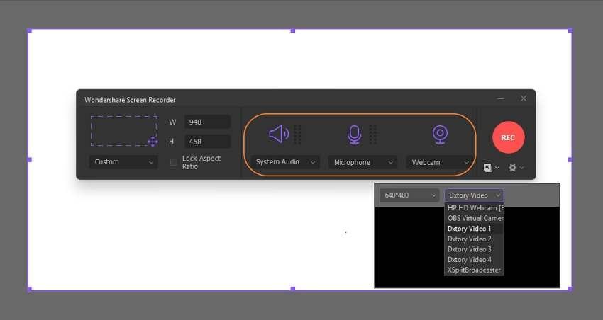 Configure the recording preferences