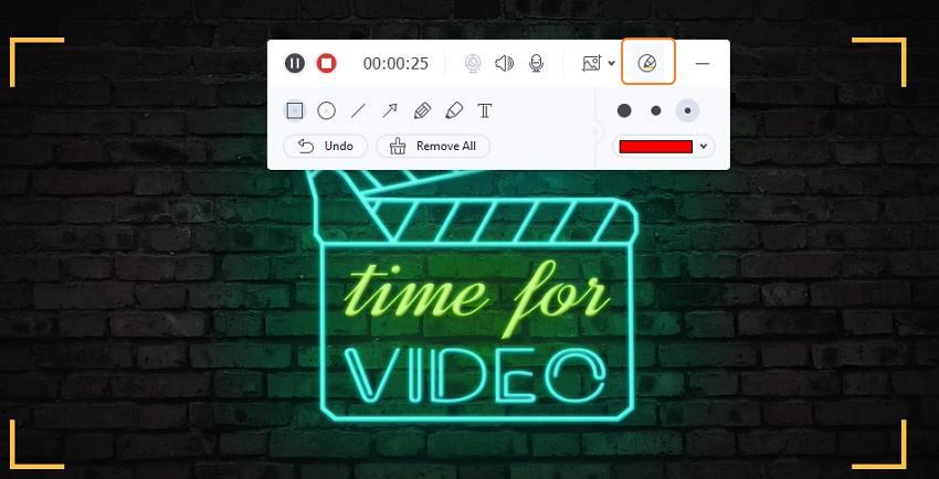 Start recording the video