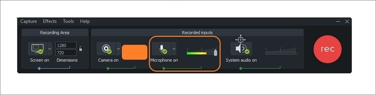 select a microphone