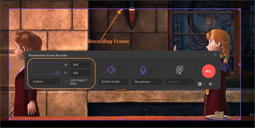 Select an area to record