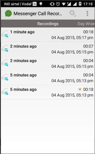 messenager call recorder