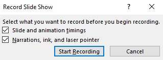 You will see a drop-down menu. From there, click on Start Recording from Beginning