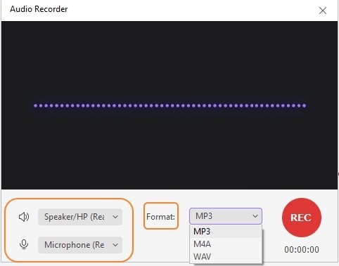 Choose audio recording settings