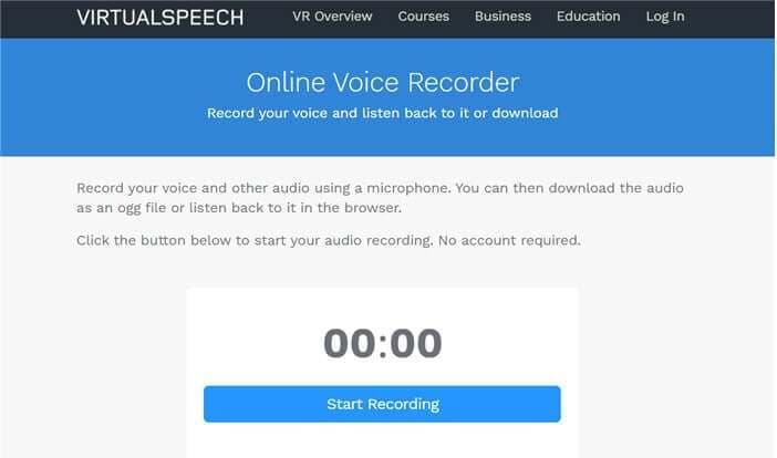 VIRTUALSPEECH Online Voice Recorder