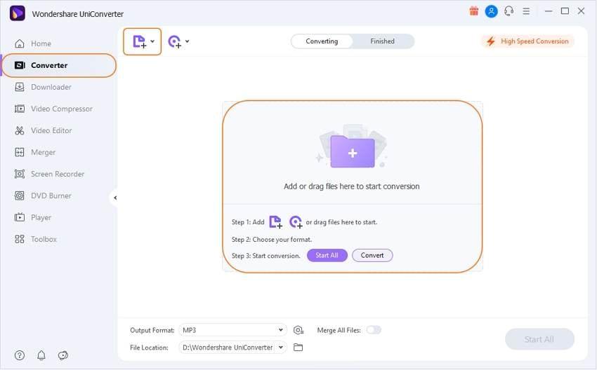 Launch Wondershare UniConverter