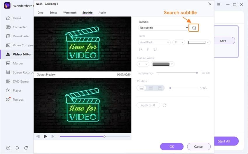 search subtitles by subtitle tool