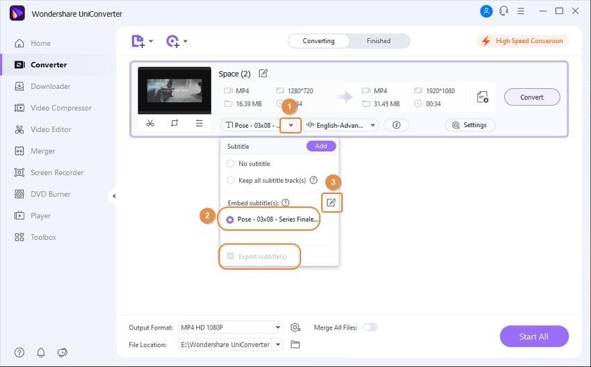 import subtitles file into subtitle tool