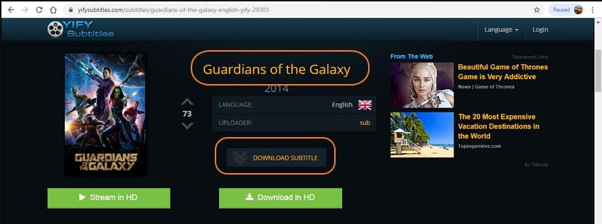 download the subtitles