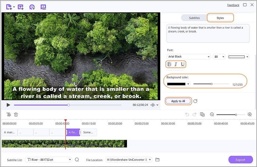 edit video subtitles