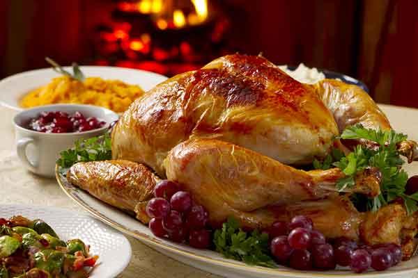 a lot of turkeys on Thanksgiving