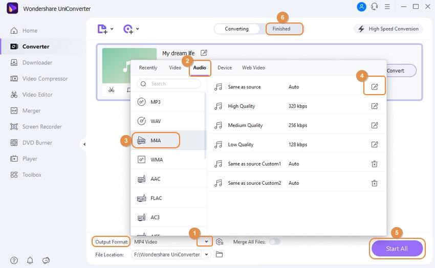 start to convert TikTok videos to MP3 by Wondershare TikTok Converter