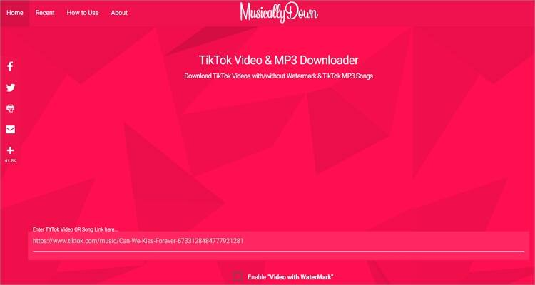 Online TikTok (Musical.ly) Videos Downloader - MusicallyDown