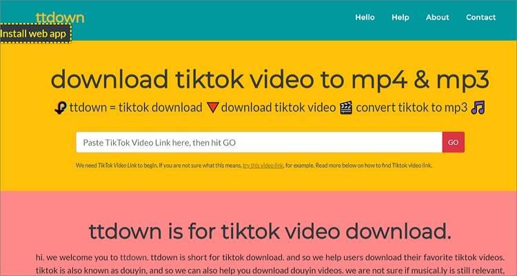 Free TikTok Converter Apps- Ttdown